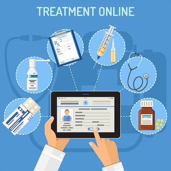 Conceito on-line de tratamento