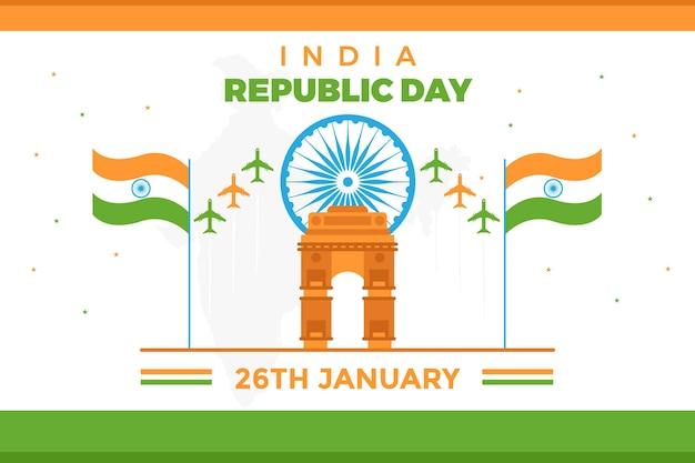 Conceito para o dia da república da índia