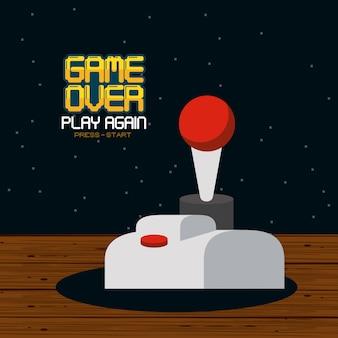 Conceito pixelado de videogame