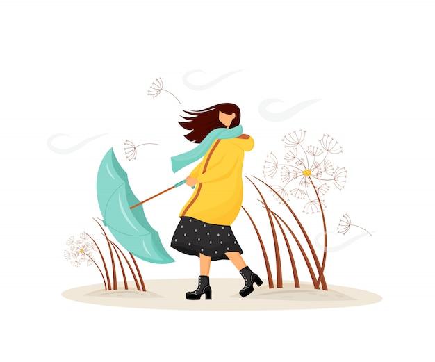 Conceito plana de tempo ventoso