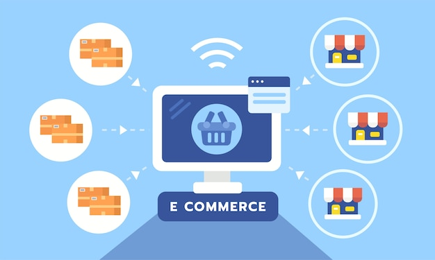 Conceito plano de e-commerce móvel