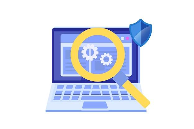 Conceito plano de software ou aplicativo. processo de desenvolvimento de depuração.