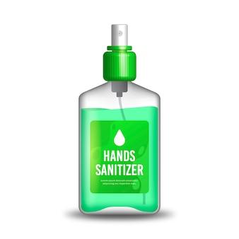 Conceito realista de desinfetante para as mãos