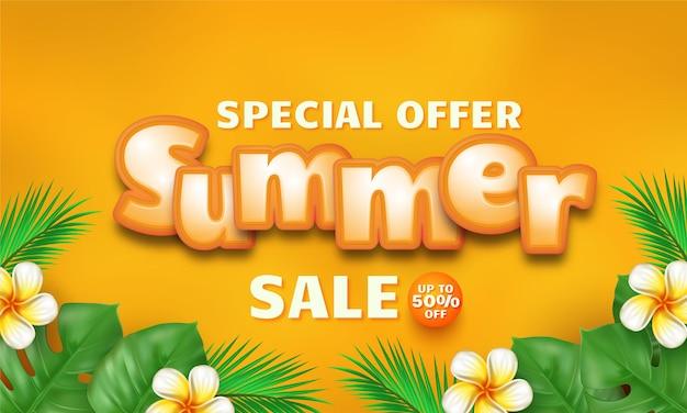 Conceito realista de oferta especial de verão