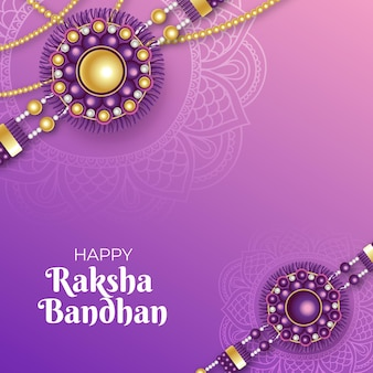 Conceito realista de raksha bandhan
