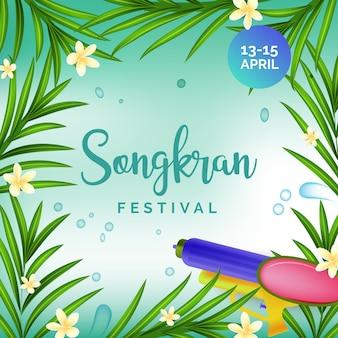 Conceito realista de songkran