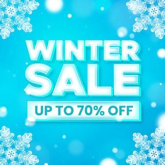 Conceito realista de venda de inverno