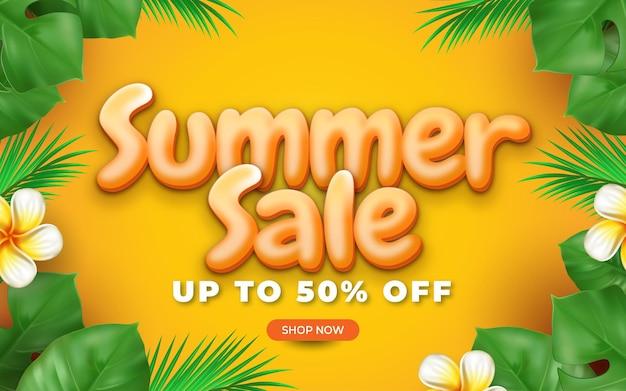 Conceito realista de venda de verão olá