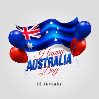 Conceito realista do dia da austrália