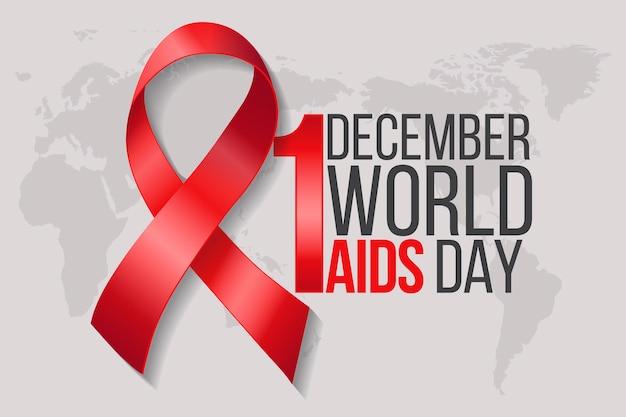 Conceito realista do dia mundial da aids