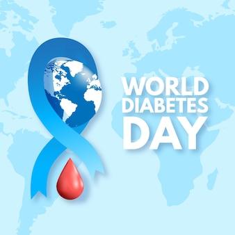 Conceito realista do dia mundial da diabetes