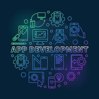 Conceito redondo de desenvolvimento de aplicativos