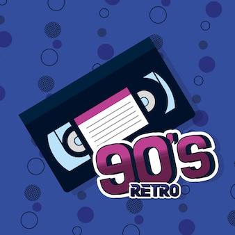 Conceito retrô dos anos 90