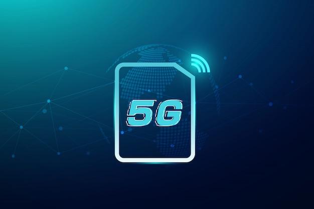 Conceito sem fio da conexão do wifi 5g internet. tecnologia de dados de inovação de alta velocidade de rede global, ilustração vetorial