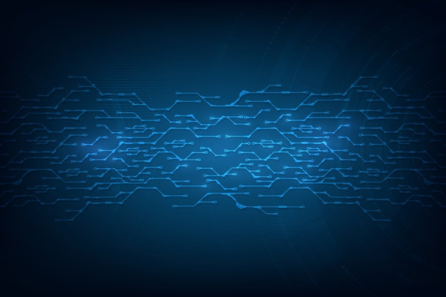 Conceito tecnologico abstrato do fundo com vários elementos da tecnologia.