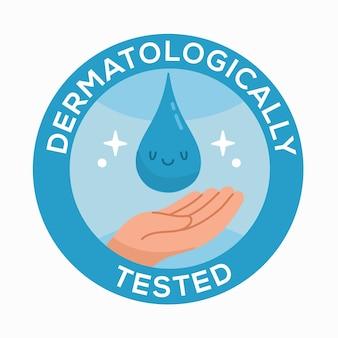 Conceito testado dermatologicamente
