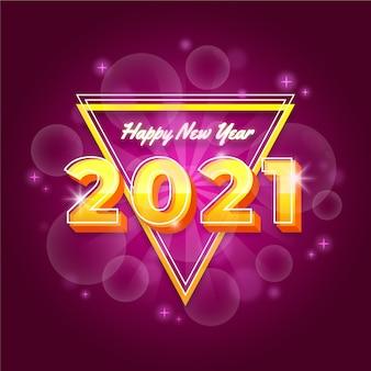 Conceito turvo de ano novo de 2021