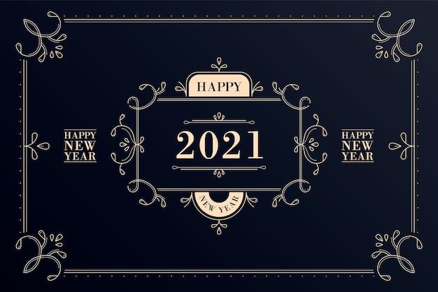 Conceito vintage de ano novo 2021
