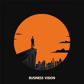 Conceito visionário de negócios