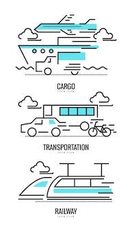 Conceitos de carga, ferrovia e transporte