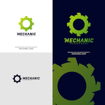 Conceitos de design de logotipo de engrenagem