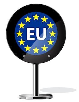 Conceitos de referendo britânico do brexit, bandeira da europa em cartaz