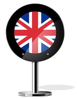 Conceitos do referendo britânico do brexit, bandeira do reino unido em cartaz