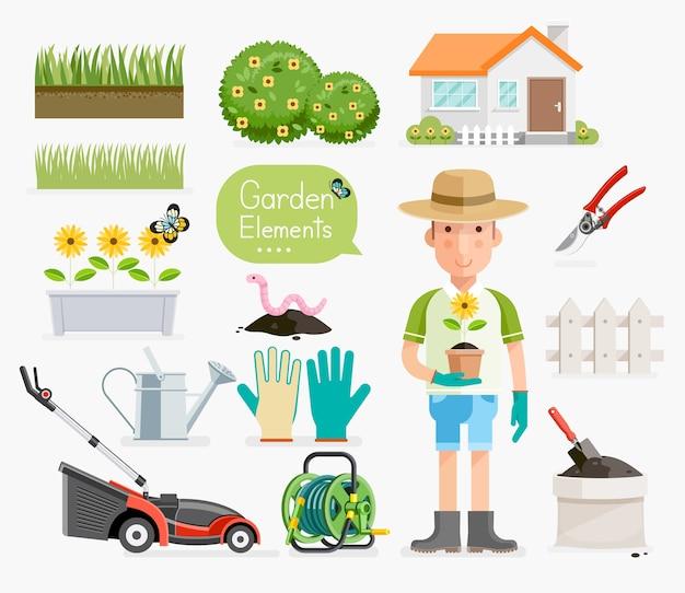 Conceitual de jardinagem.