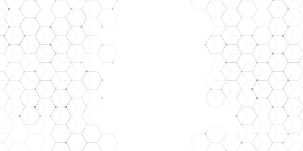 Concepção abstrata de banner de conexões