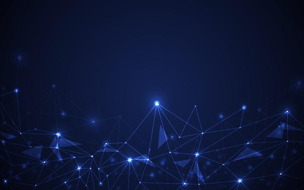 Concepção abstrata de molécula futurista