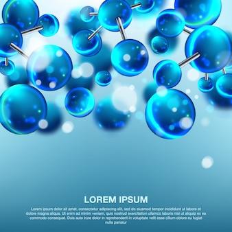 Concepção abstrata de moléculas.