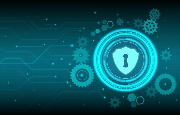Concepção abstrata de tecnologia de fundo do sistema de segurança