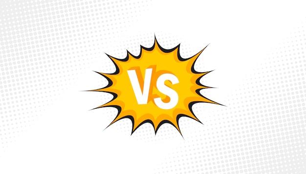 Concept vs. versus. luta. fundo retrô quadrinhos estilo design com meio-tom, um raio.
