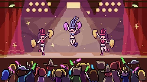 Concerto de dança de cena de arte pixel