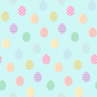 Concurso azul padrão com ovos de páscoa coloridos