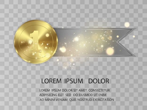 Concurso de premiação do vencedor, medalha de prêmio