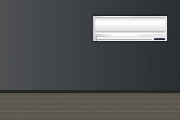 Condicionador branco sobre um fundo transparente.