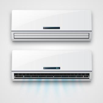 Condicionador de ar com fluxo de ar fresco isolado.