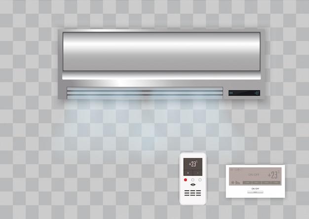 Condicionador de ar de vetor com ar fresco isolado.