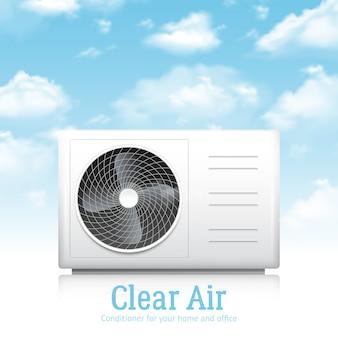 Condicionador para casa e escritório ilustração