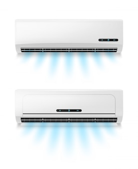 Condicionadores, equipamento de ar condicionado realista