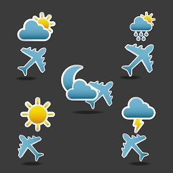 Condições de vôo de ícones