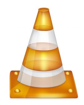 Cone de trânsito isolado