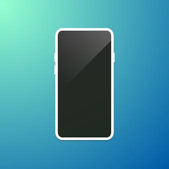 Conecpt of bezel menos smartphone com câmera frontal com visor frontal