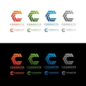 Conecta o logotipo da letra c