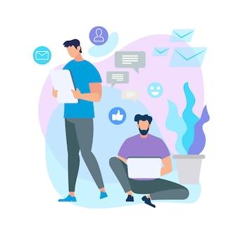 Conectando pessoas com dispositivos smartphone