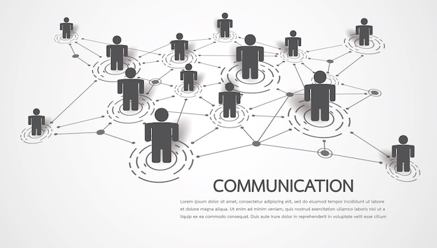 Conectando pessoas com ponto e linha