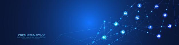 Conectar pessoas e conceito de comunicação, rede social.