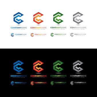 Conecte-se à tecnologia c letter box logo