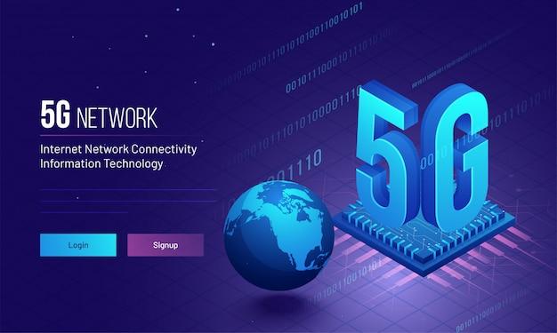 Conectividade global de rede 5g na internet.